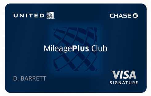 United Airlines Mileage Pus Credit Card
